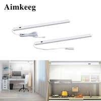 LED sous armoire lumière main capteur barre de contrôle lumière 30/40/50cm chambre armoire placard cuisine éclairage intérieur maison nuit lampe