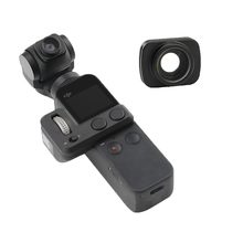 OSMO cep filtre taşınabilir geniş açı kamera lensi el Gimbal kolu kamera manyetik Lens DJI OSMO cep aksesuarları