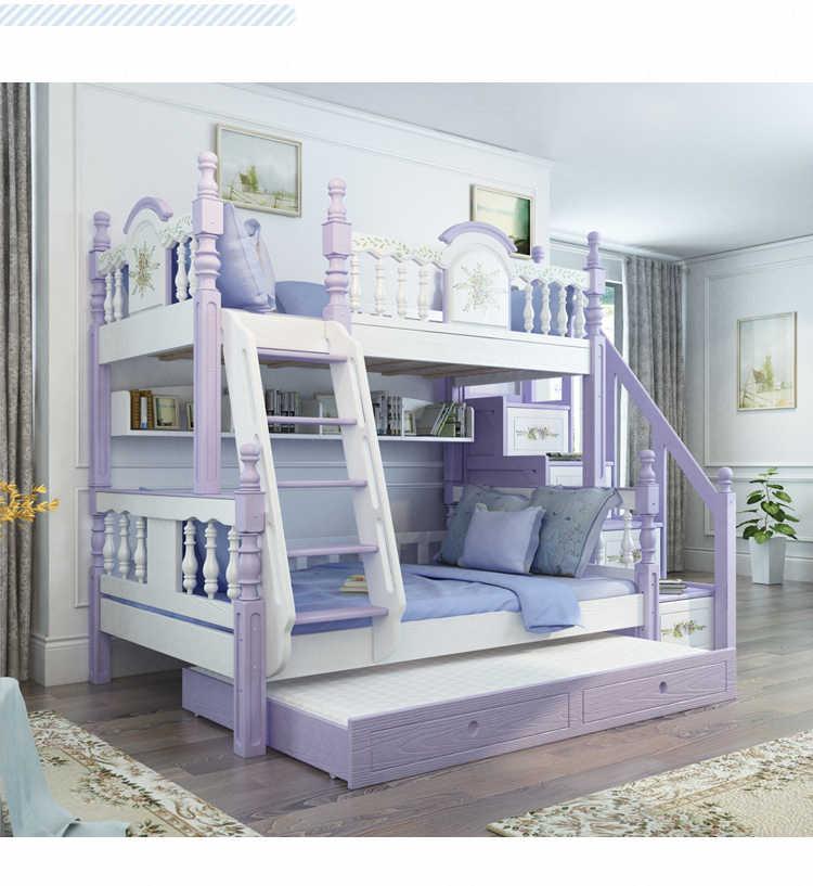 Foshan Modern Oak Wood Bunk Beds Kids Bedroom Furniture Sets For Boys Girls Beds Aliexpress