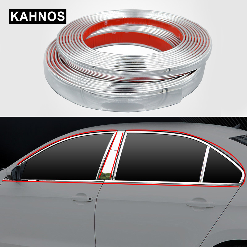 1M Car Chrome Styling Decoration Moulding Trim Strip Tape Protector Cover 15MM
