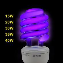 Lampa ultrafioletowa UV 15W 20W 30W 36 40W BLB czarna jasnoniebieska żarówka fluorescencyjna lampa detekcyjna E27 220V fioletowa przynęta dekoracja lampy tanie tanio MALITAI 0000K ROHS Fluorescent Detection 220 v 30000Hrs Lampy ultrafioletowe 1 Year 365nm Black light Bulb Instrument crack test