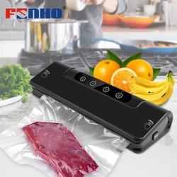 FUNHO vacuum sealer for household food vacuum packing machine 15Pcs bags for vacuum packer Vacuum sealing machine 220V/110V