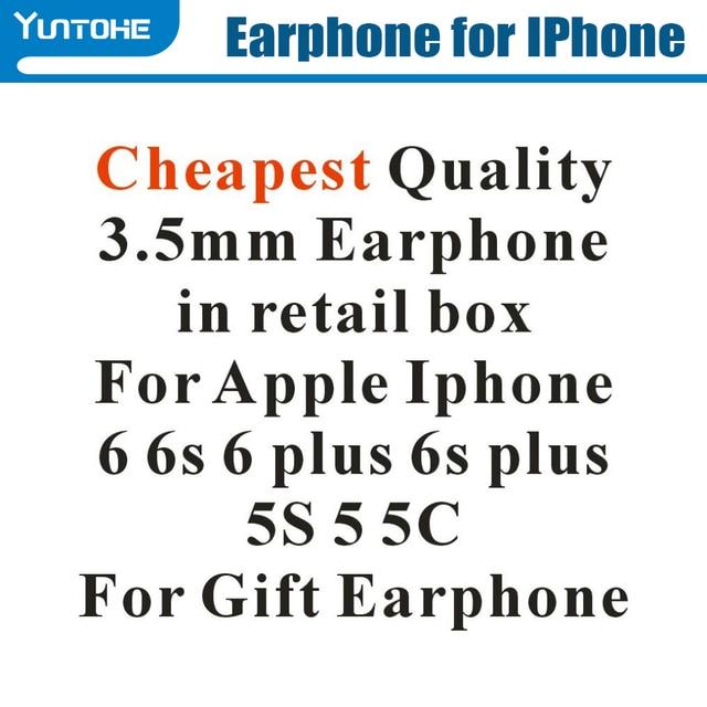 ホット! 格安ホワイトホンで & apple の iphone 用マイク 6 6s 6 グラムプラス 5 S55G で小売ボックスギフト用 100 ピース/ロット