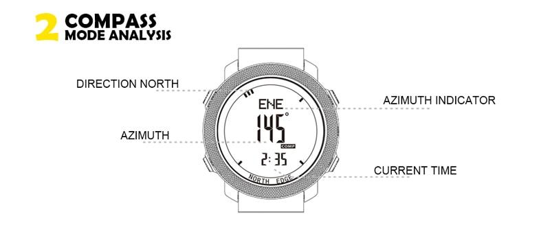 North edge masculino esportes relógios à prova