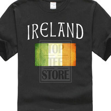 Cheap Printed T Shirts T Shirt Casual Short Sleeve For Men Clothing Summer Panoware Men's Irish Flag Ireland T Shirt Trend(China)