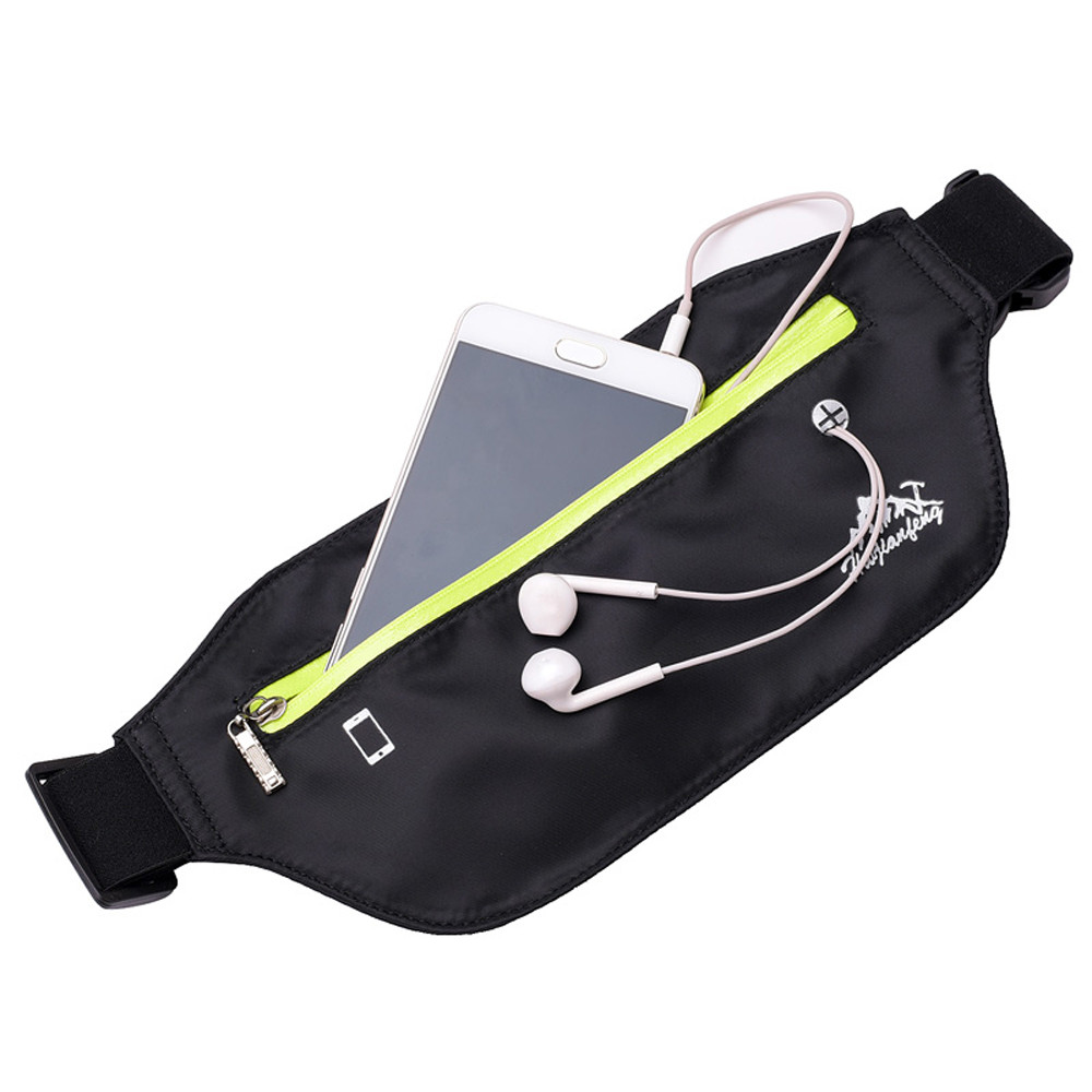 running - Outdoor Sport Bags Neutral Pure Color Water Repellent Nylon Messenger Bag Chest Bag for phone New