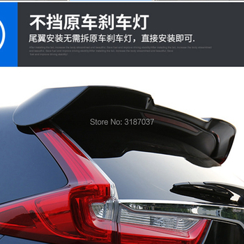 For Honda CRV CR-V 2017 2018 ABS Plastic Unpainted Color Rear Roof Spoiler Wing Trunk Lip Boot Cover Car Styling