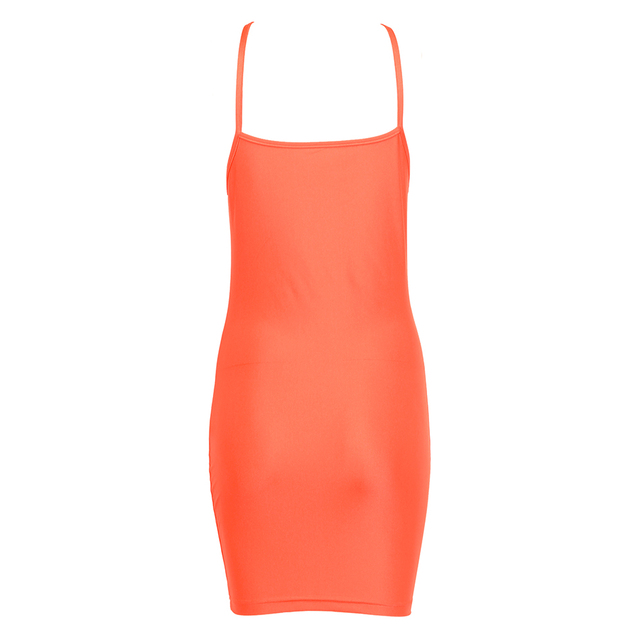 New Orange Neon Bodycon Kylie Jenner Casual Mini Party Night Summer Dress 5