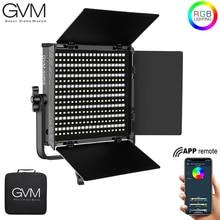 GVM 50RS RGB LED Video Light Full Color CRI TLCI 95+ Bi Color 3200K~5600K Adjustable for Studio Photography with Barn Door & Bag