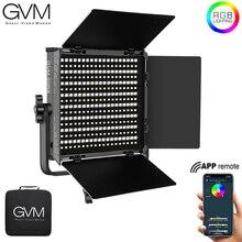 GVM Luz LED RGB 50RS para vídeo a todo Color CRI TLCI 95 + Bi Color 3200K ~ 5600K, ajustable para fotografía de estudio con puerta de Granero y bolsa