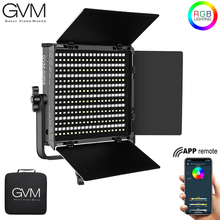 Gvm 50RS rgb ledビデオライトフルカラーcri tlci 95 + 2色3200k〜5600k調節可能なスタジオ写真納屋のドア & バッグ