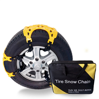 6 PCS Car Tendon Snow Chain Thickened Emergency Tire Chains TPU Material Cold Wear Resistant Car Snow Tire Anti Skid Chains
