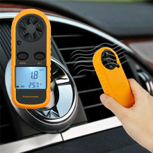 Mini Anemometer Wind Meter Lcd Digital Speed Sensor Portable New