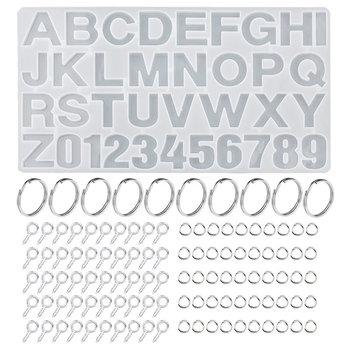 Zestaw żywicy epoksydowej formy litera alfabetu numery silikonowe formy zestaw biżuterii odlewania narzędzia do epoksydowych elementy do wyrobu biżuterii DIY tanie i dobre opinie QIAO 200g silicone 19 3cm 35 8cm Narzędzia jubilerskie i urządzeń EJ-004 Epoxy resin mold Transparent a set 35 8*19 3cm