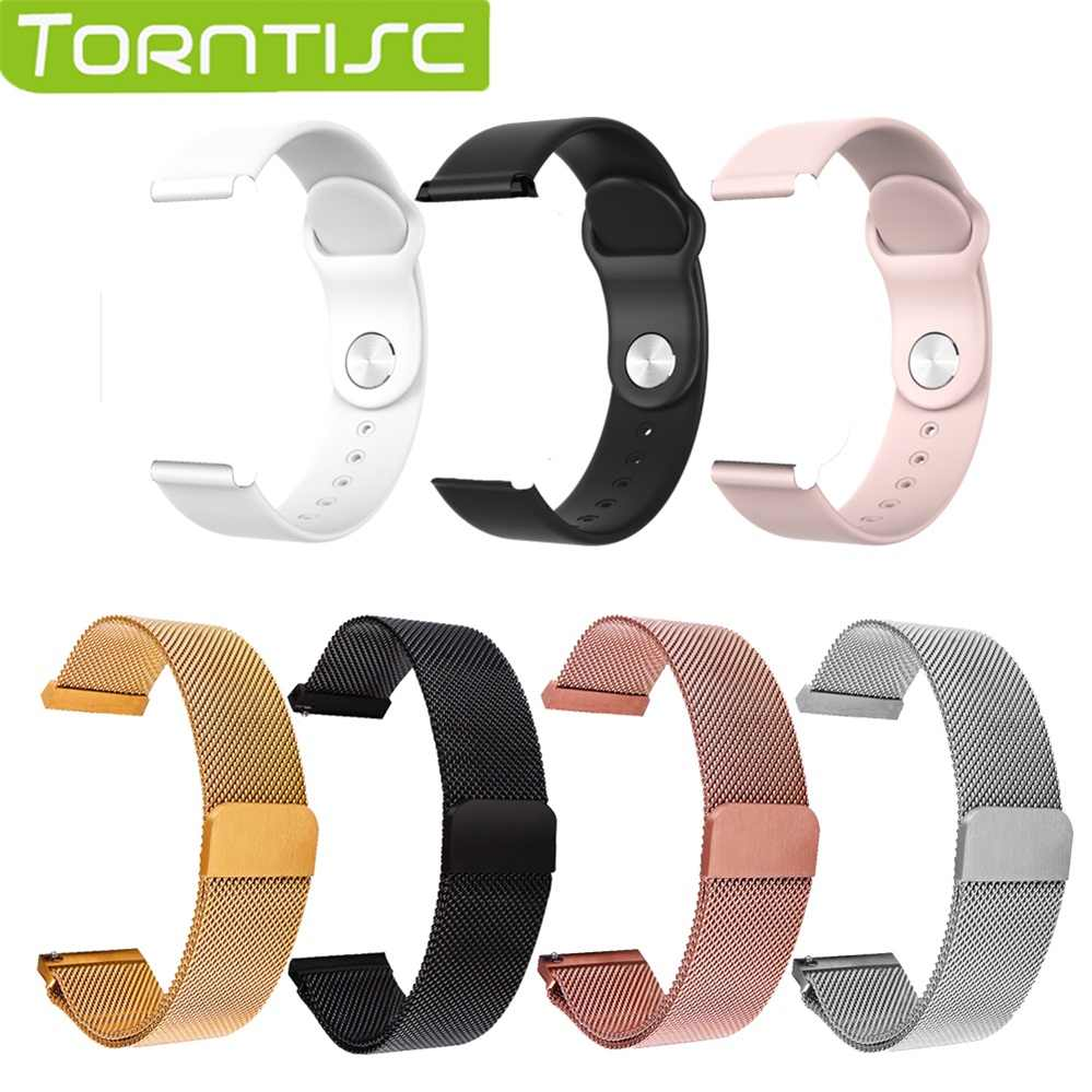 Torntisc 16 mm Milanese steel strap Silicone strap For smart watch B57 Replacement Strap