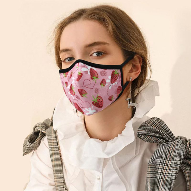 Unisex Anti Pollution Dust Mask Colorful Graffiti Washable PM2.5 Face Respirator