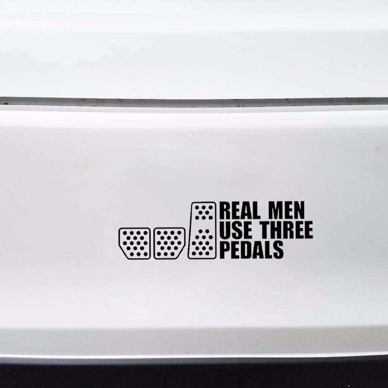 Aliauto Fashion Stiker Mobil Nyata Pria Menggunakan Tiga Pedal Balap Drift Kopling Vinyl Decal untuk W211 Mazda Cx 5 GTi VW Golf 5,20 Cm * 6 Cm