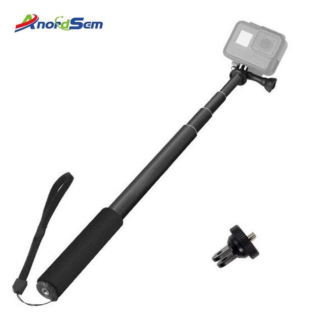 Monopiede Selfie Stick per Gopro Bastone Allungabile Baton Selfie Portatile Impermeabile Spiedi Mount per GoPro hero 7 6 5 Xiaoyi 4K DJI