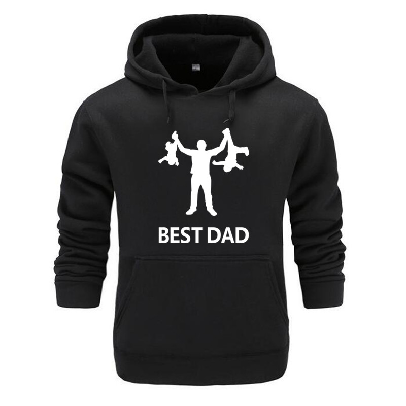 2019 New Brand Winter Autumn Creative Gift Dad Hoodie Best Papa Ever Fleece Hoodies Mens Fathers Day Gifts Hooded Sweatshirt