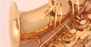 Image 4 - New high quality instrument The alto saxophone Golden alto Saxophone and case