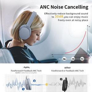 Image 4 - نشط إلغاء الضوضاء سماعات سماعة لاسلكية تعمل بالبلوتوث سماعات مع علبة صندوق سماعة أذن مع ميكروفون ل هواتف محمولة