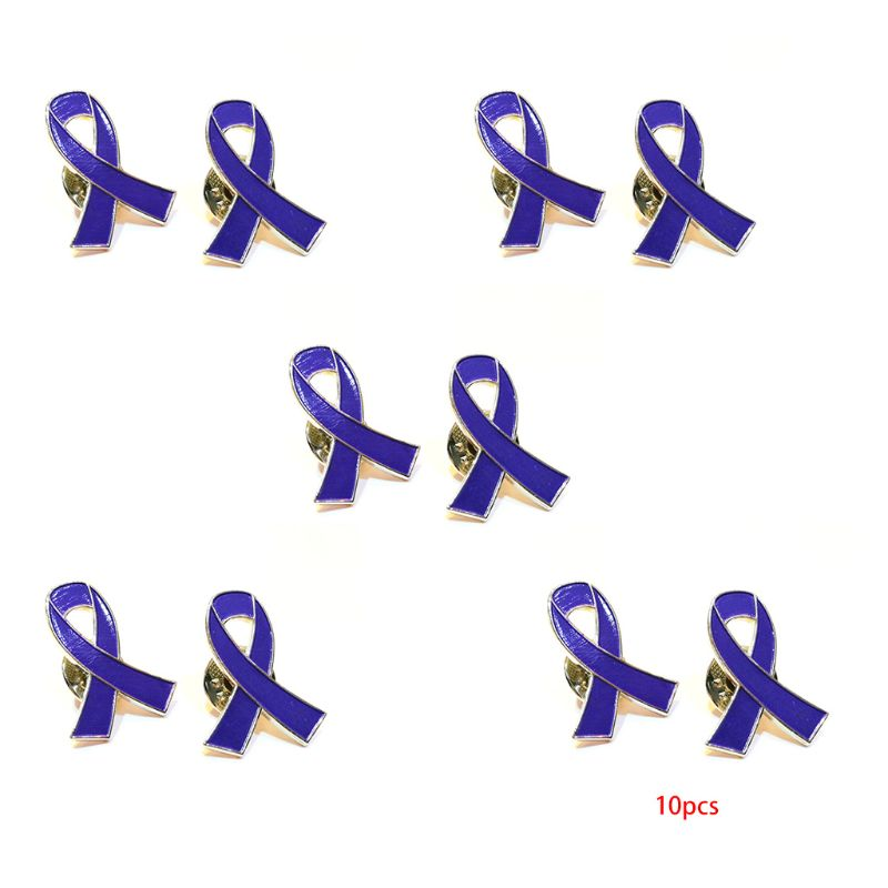 Ribbon Awareness Enamel Lapel Pin Badges