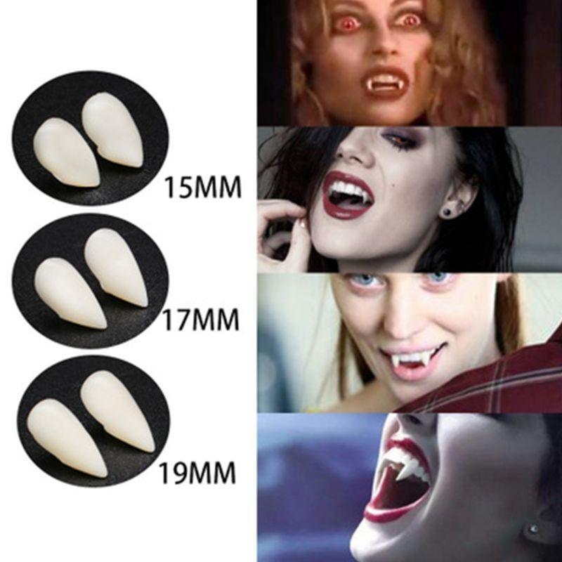1 Pair Realistic Vampire Fake Teeth Grade Material Halloween Decoration