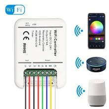 DC12V 24V Wifi LED בקר RGB/RGBW/RGBWW הרצועה 16 מיליון צבעים מוסיקה וטיימר מצב Wifi שליטה על ידי IOS/אנדרואיד Smartphone