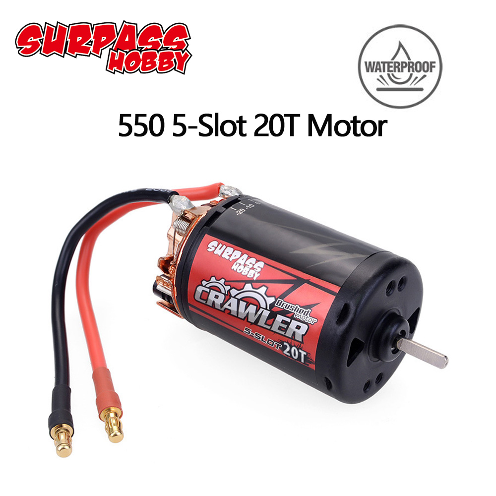 Newest Upgraded Waterproof 5 Slot 550 20T Brushed motor for tamiya Kyosho TRAXXAS WLtoys 1/10 RC Car Monster Truck|Parts & Accessories| |  - title=