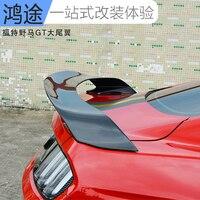 Apto para o FORD Mustang GT350R 2015 modificado fibra de carbono asa traseira spoiler traseiro asa