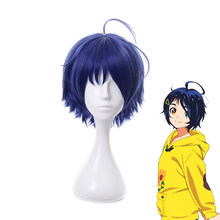 Anime WONDER EGG PRIORITY Ohto Ai Dark Blue Short Wig Cosplay Costume Heat Resistant Synthetic Hair Women Carnival Party Wigs
