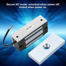 Электромагнитный Мини-замок DC12V 60 кг, электронный магнитный дверной замок, Электрический дверной замок