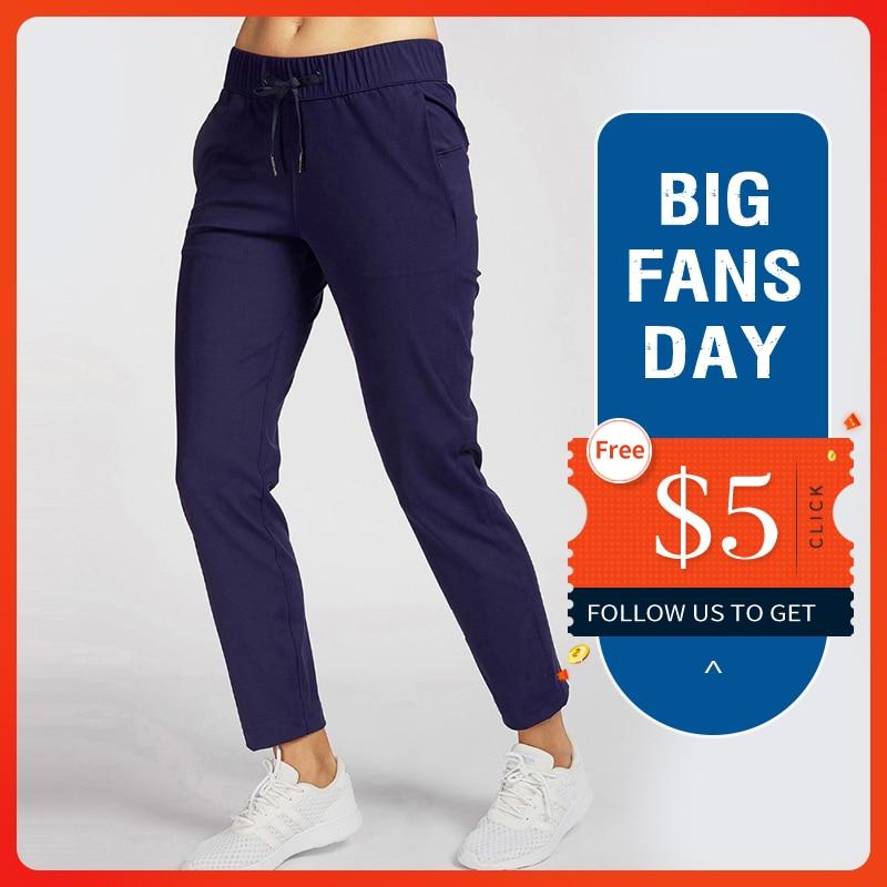 CRZ YOGA Women's Stretch Drawstring Waist Pants Workout Sports Trousers
