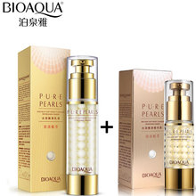BIOAQUA Brand Pure Pearl Face Cream Moisturizing Facial Lotion +Essence Hyaluronic Acid Anti Wrinkle Whitening Essence Cream 60g