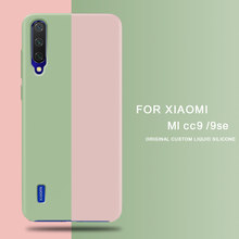 For Xiaomi Mi A3 CC9 CC9E Case Soft Liquid Silicon Cover for Xiaomi Redmi 7A K20 Note 7 Pro Mi MiX 2 3 2S 8 9 SE A2 A3 Lite Case(China)