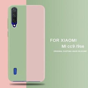 Image 1 - For Xiaomi Mi A3 CC9 CC9E Case Soft Liquid Silicon Cover for Xiaomi Redmi 7A K20 Note 7 Pro MiX 2 3 2S 8 9 SE A2 A3 Lite Case