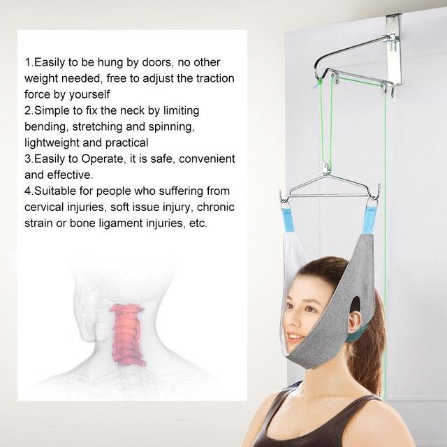 Cervical traction device home stretching medical hanging cervical spondylosis neck Correction device orthosis traction frame