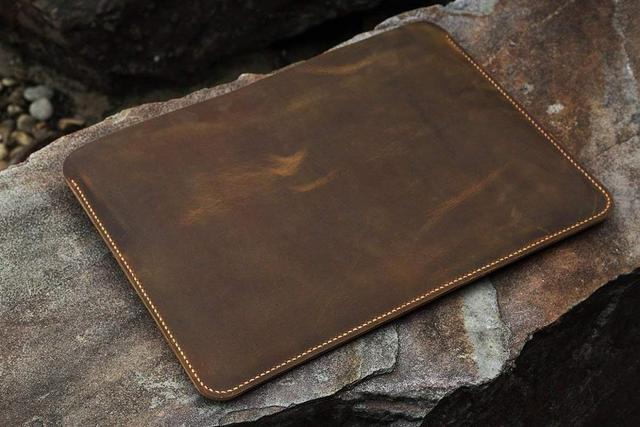 Handmade Genuine Leather laptop sleeve case for 12 13 15 inch laptop/vintage distressed leather sleeve case   MACX05S