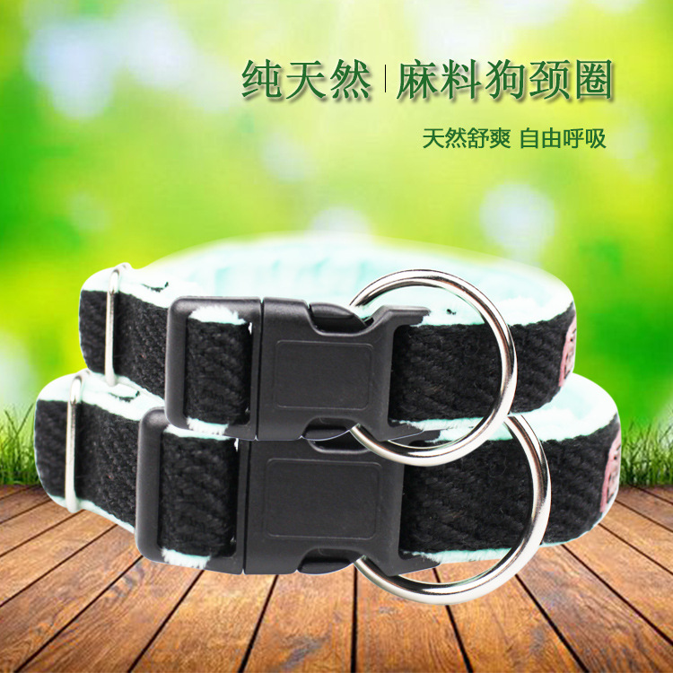 New Style Cotton Linen Small, Medium And Large Dog Rope Teddy Dog Chain Pet Traction Collar