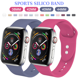 Banda de silicona deportiva MU SEN para apple watch Series 4/3/2/1 reemplazo de correa de reloj de pulsera para apple watch 42mm 38mm