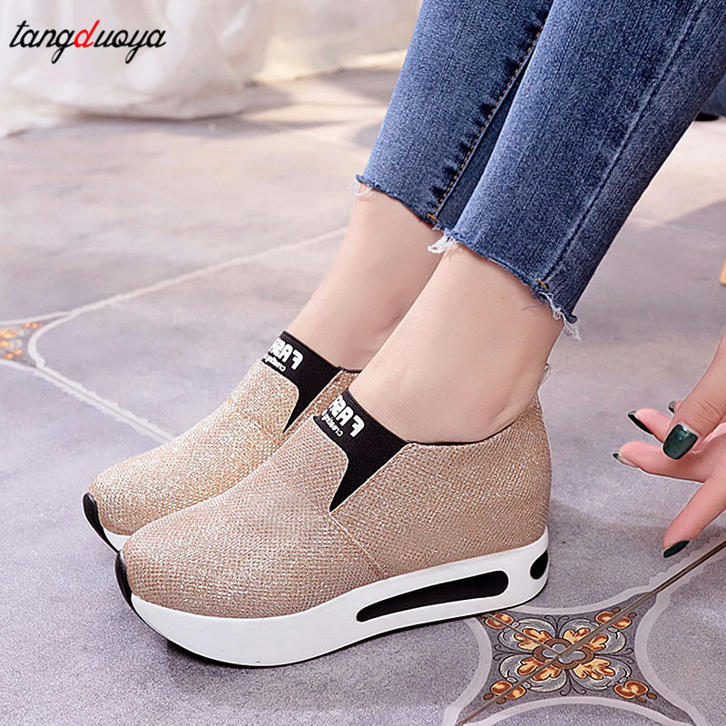 Shoes Sneakers Slip-On Women Casual Winter title=