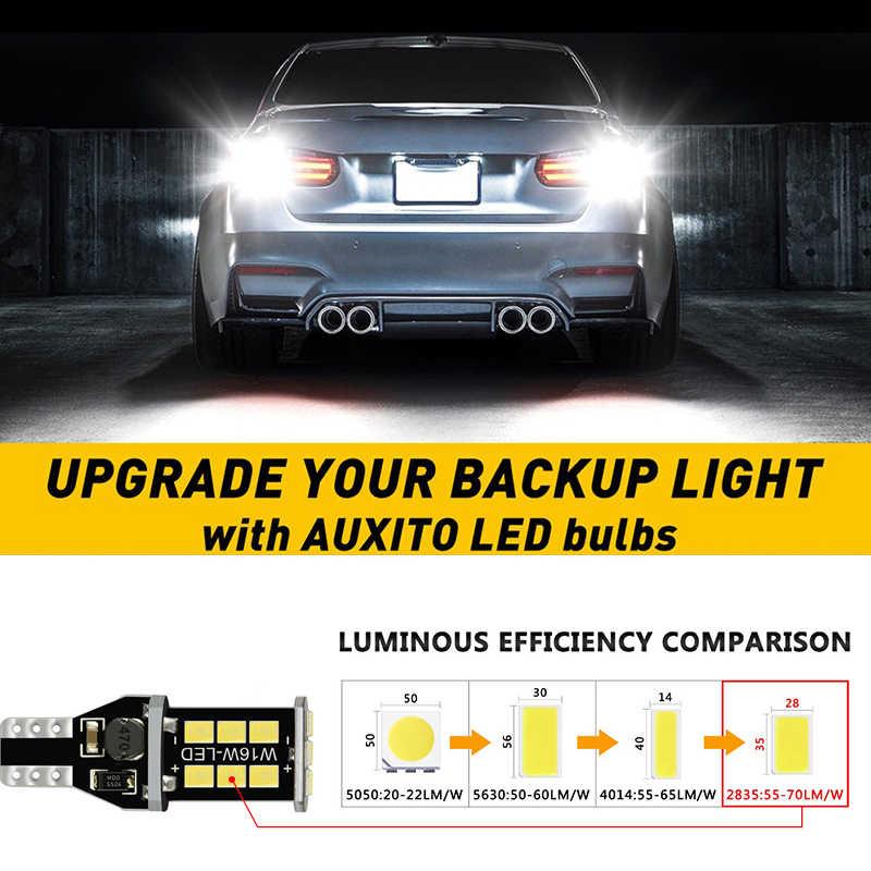 12V Pack of 2 Canbus Error Free Backup Reverse Rear Lights 902 904 906 912 921 T15 W16W 18-SMD 3014 Wedge LED Reversing Light Bulbs 6000K