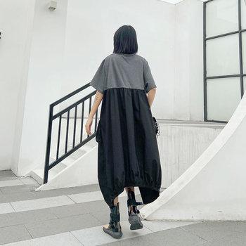 Irregular Patch Oversized Dress