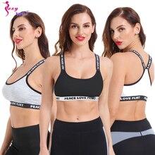 SEXYWG Top Sports Bra Fitness Free Size Letter Yoga Bra Women Gym Running Push U