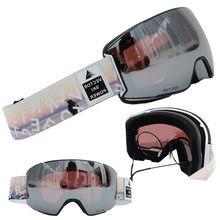 OTG lunettes de Ski lunettes de neige hommes UV400 Anti-buée revêtements motoneige Snowboard Ski femmes lunettes de soleil en plein air Sport d'hiver 2020