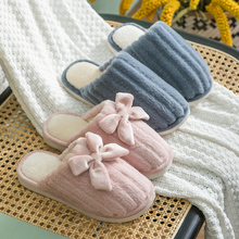 Furry Slides Women Home Slippers Winter Warm Shoes Woman Slip on Flats Female Faux Fur Closed Toe
