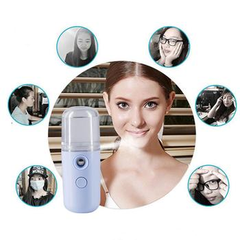Mini USB Sprayer Face Body Moisturizing Sprayer USB Rechargeable Portable Air Humidifier Handheld Face Water Atomizer image