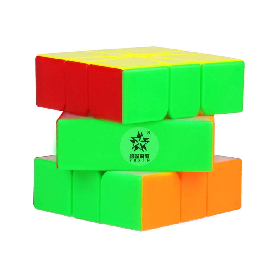 Yuxin Little Magic Square One 3x3x3 Magnetic SQ1 Magic Cube Stickerless Square-1 Cubo Magico Puzzle Toy For Children Kids Gift