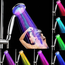 7 Warna Berubah LED Shower Kepala Abs Romantis Sprinkler Lampu Warna-warni Air Glow Kreatif Shower Lampu Kamar Mandi(China)