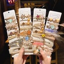 1 Juego de horquillas de perlas coreanas para niña y mujer, pinzas para el cabello elegantes, pasadores, accesorios, horquilla, tocado